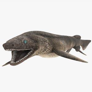 frilled shark 3d model
