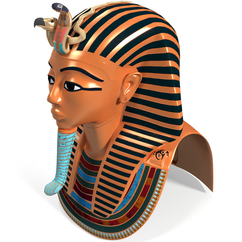 mask tutankhamun 3d 3ds