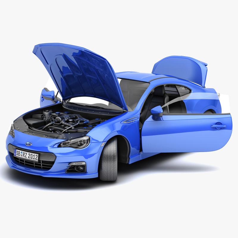 3d subaru brz 2013 sport car model