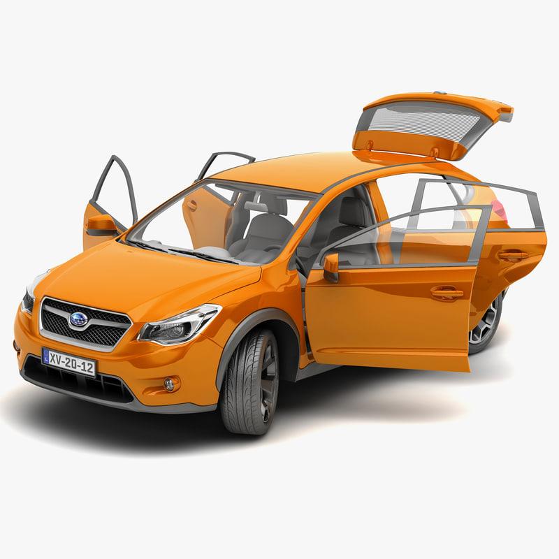 3d model subaru xv 2012 v2