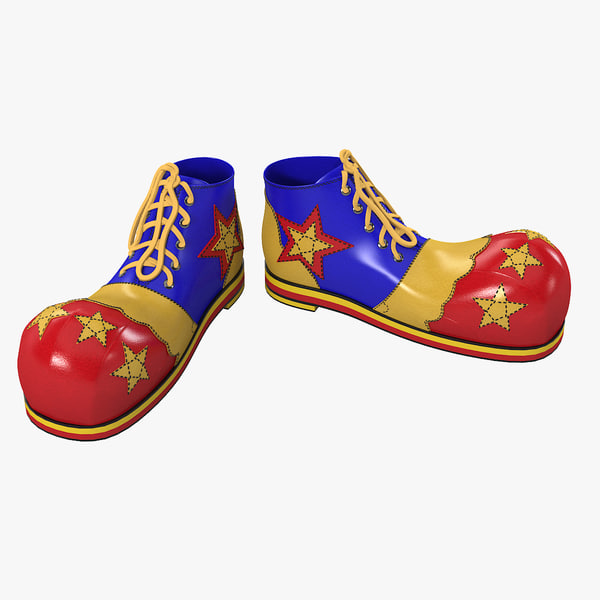 clown star shoes 3d model