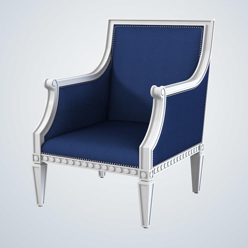 3d jonathan adler regent armchair model