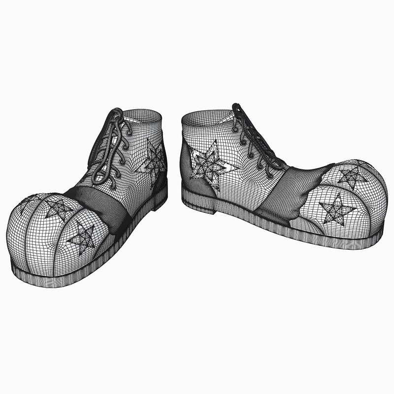 4a45e1ca66f clown star shoes 3d model