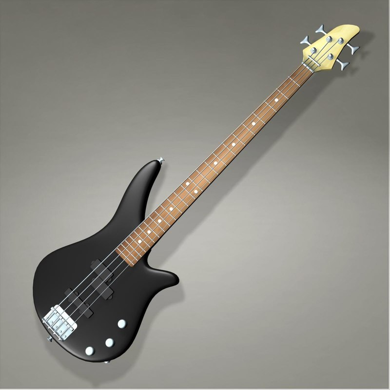 3dsmax bass guitar