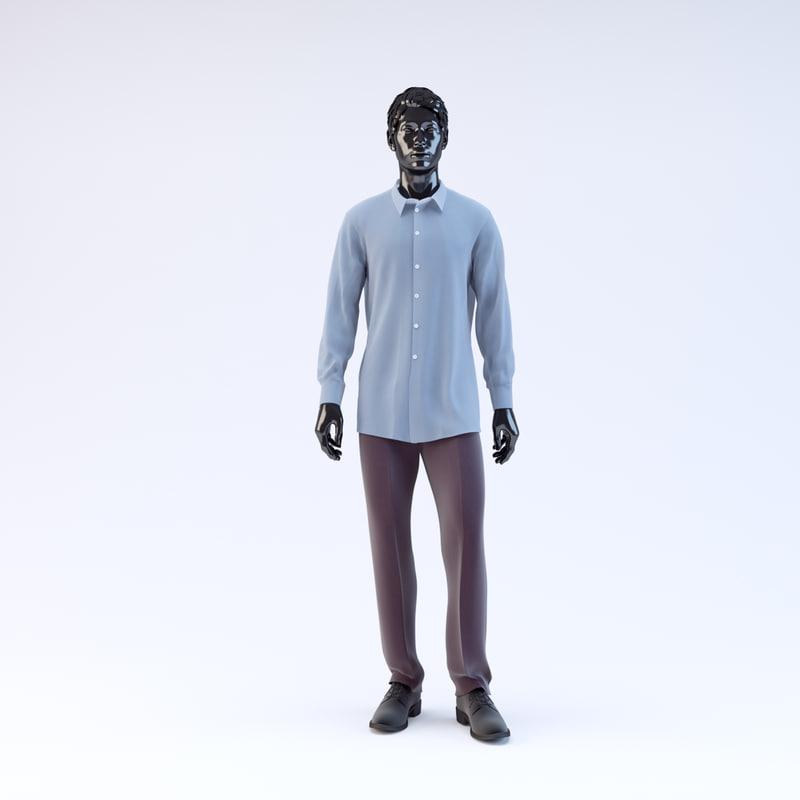 3d model showroom mannequin male 04
