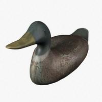 duck decoy 3d max