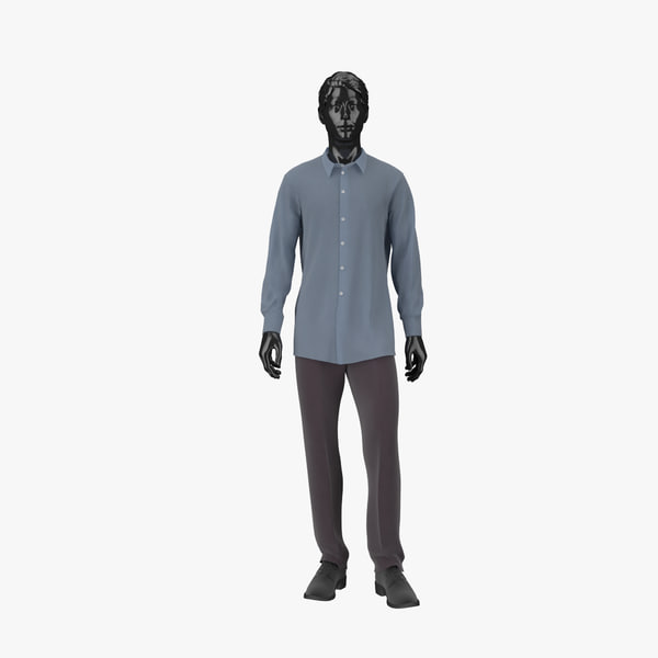 3d model showroom mannequin male 04