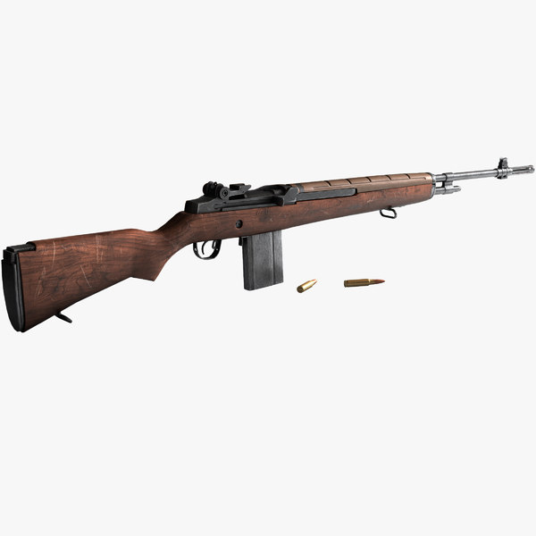 3dsmax m1a rifle