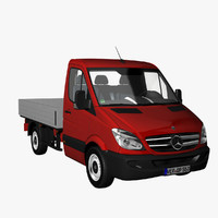 3d model sprinter singlecab truck 2012