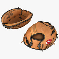baseball catchers glove 3d model