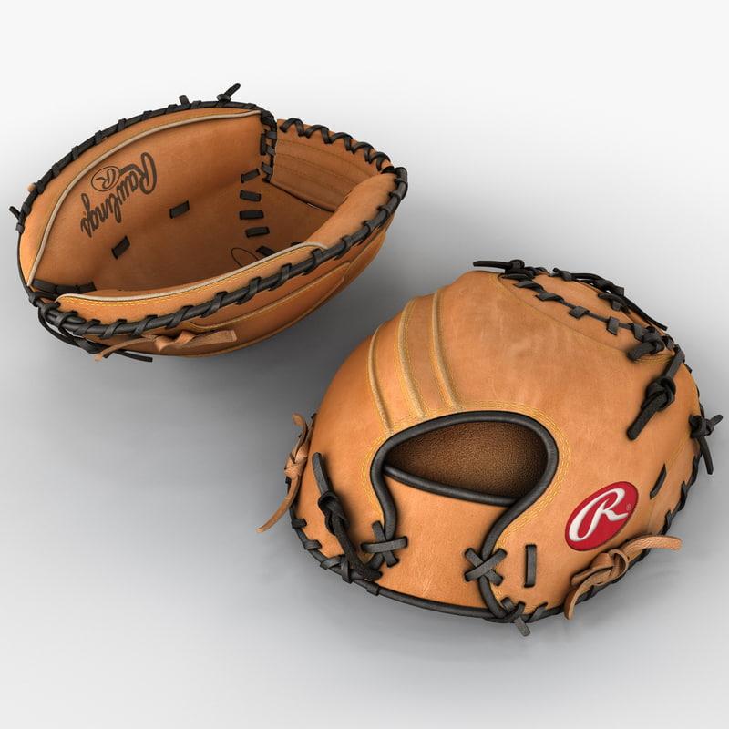 baseball catchers glove 3d model
