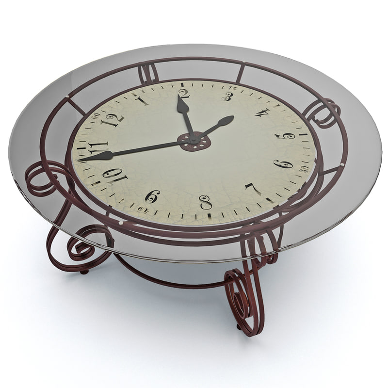 3d cocktail table clock
