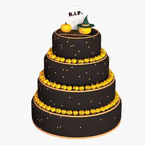 3d halloween cake model