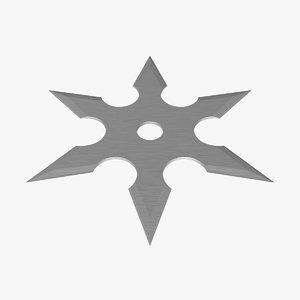 3d ninja star model