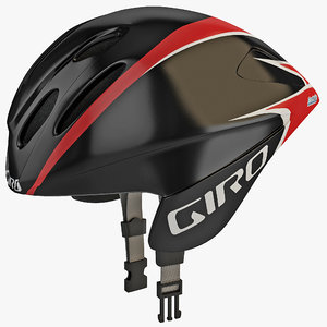 3d model road race helmet giro