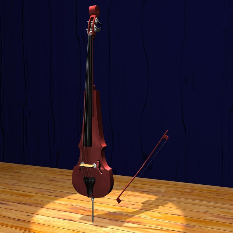 3ds max electric double bass strings