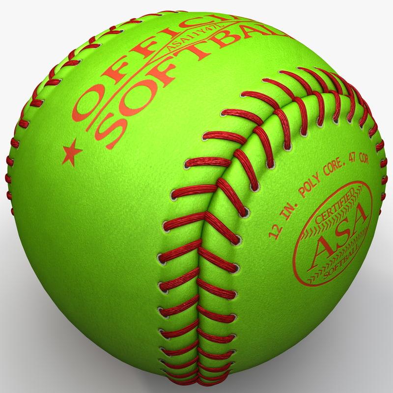 3ds max softball ball