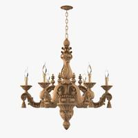 3d model chelini tuscani xviii chandelier