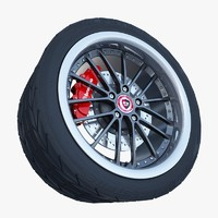 3d model of rm racing sports wheel tire