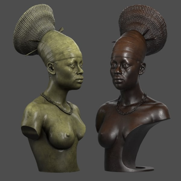 decorative bust african woman max