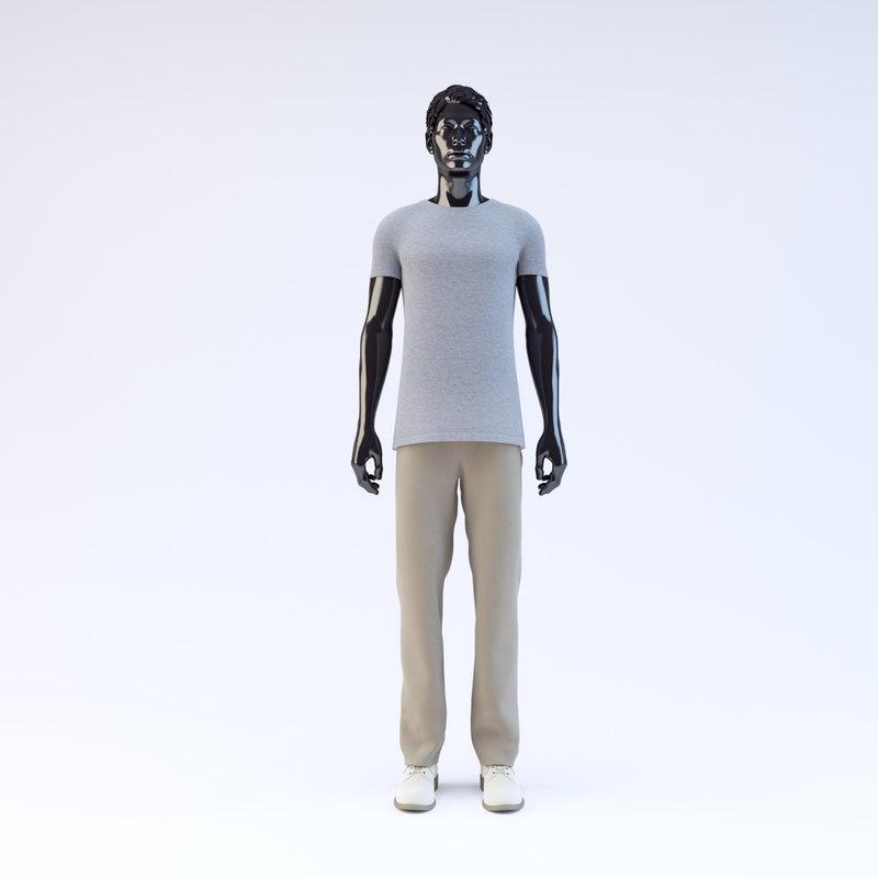 3d showroom mannequin male 07