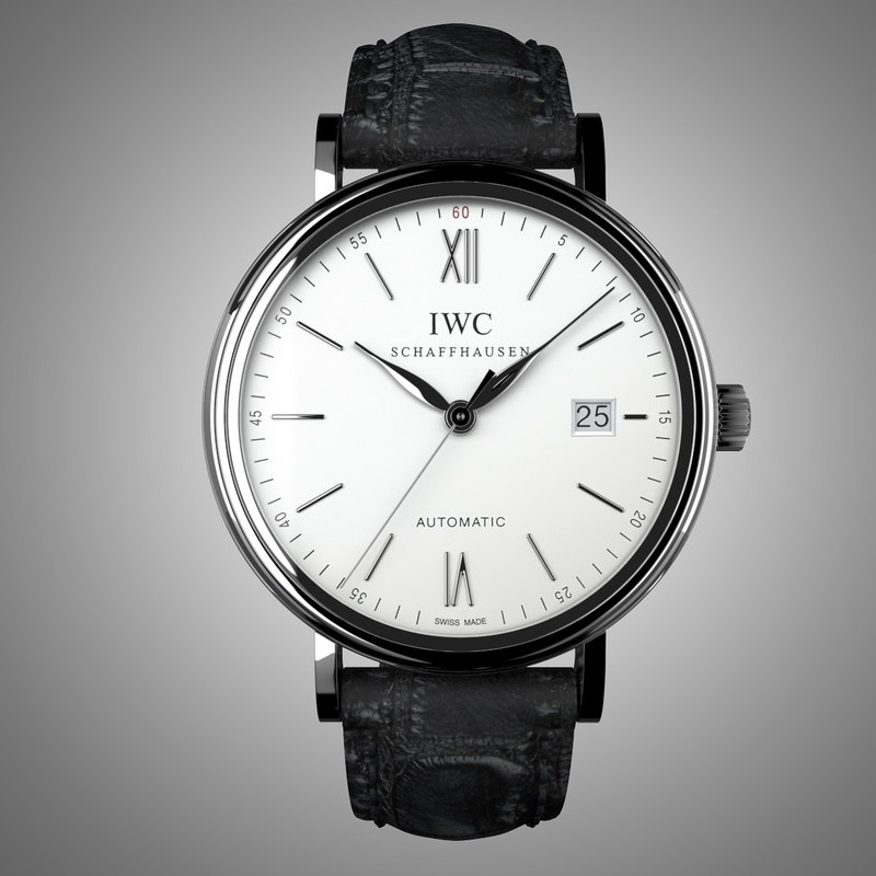 3d iwc portofino automatic modeled model