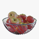 fruit basket 3D models