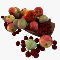 3d model fruit plate