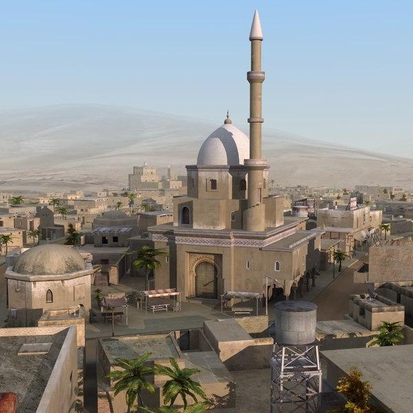 3d desert street model