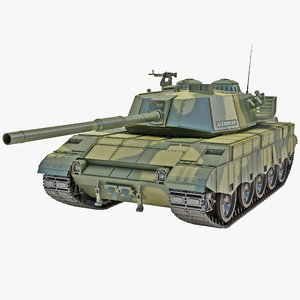 al-zarrar pakistan main battle tank 3d 3ds