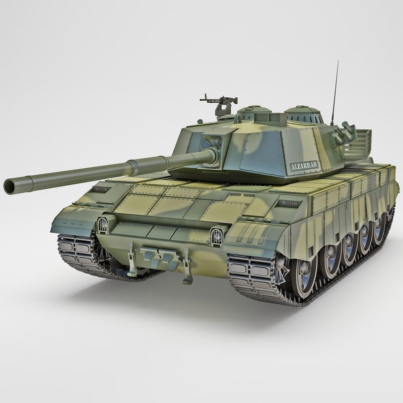 al-zarrar pakistan main battle tank 3d 3ds