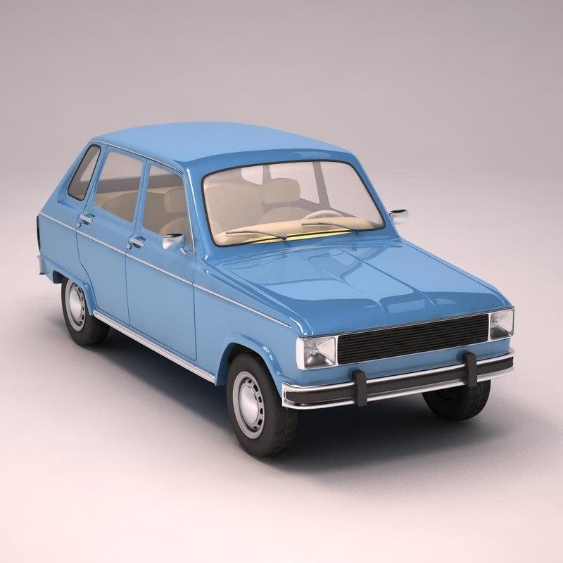 3d model renault 6