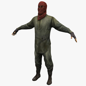 rigged guerrilla soldier max