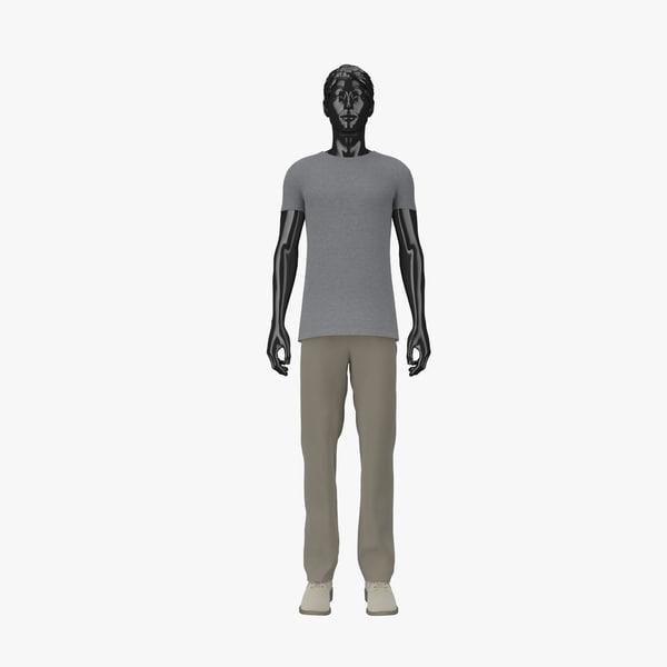 showroom mannequin male 07 3d model