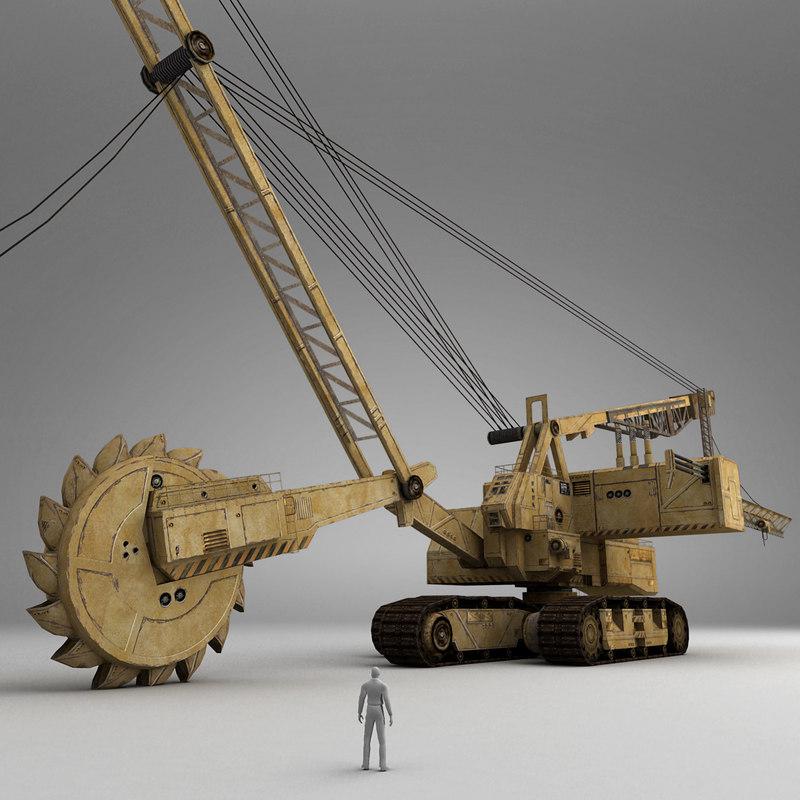 bucket-wheel excavator 3d model