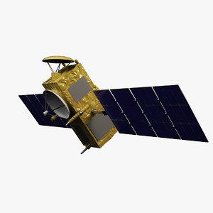 3d satellite jason-1 model