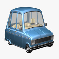 renault 6 cartoon car 3d max