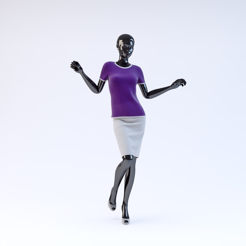 showroom mannequin 025 3d