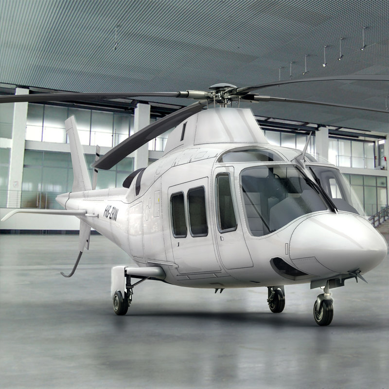 3d agusta helicopter interior model