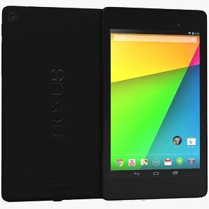 google nexus 7 2013 3d model