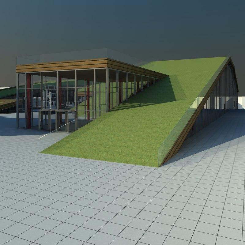 cultural centre 3d model
