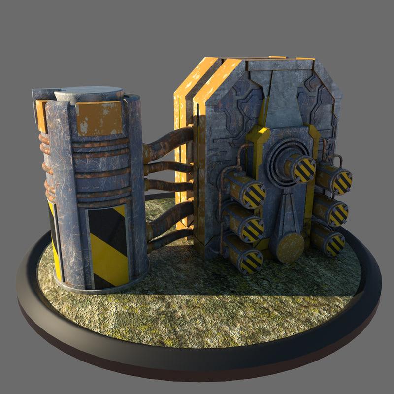 3d model of reactor architectural scene