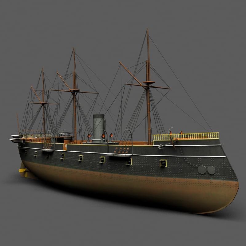 max low-poly battleship