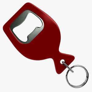 3ds max bottle opener keychain