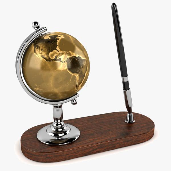 3ds globe pen set