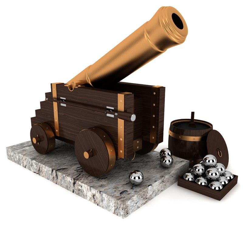 3ds max decorative cannon
