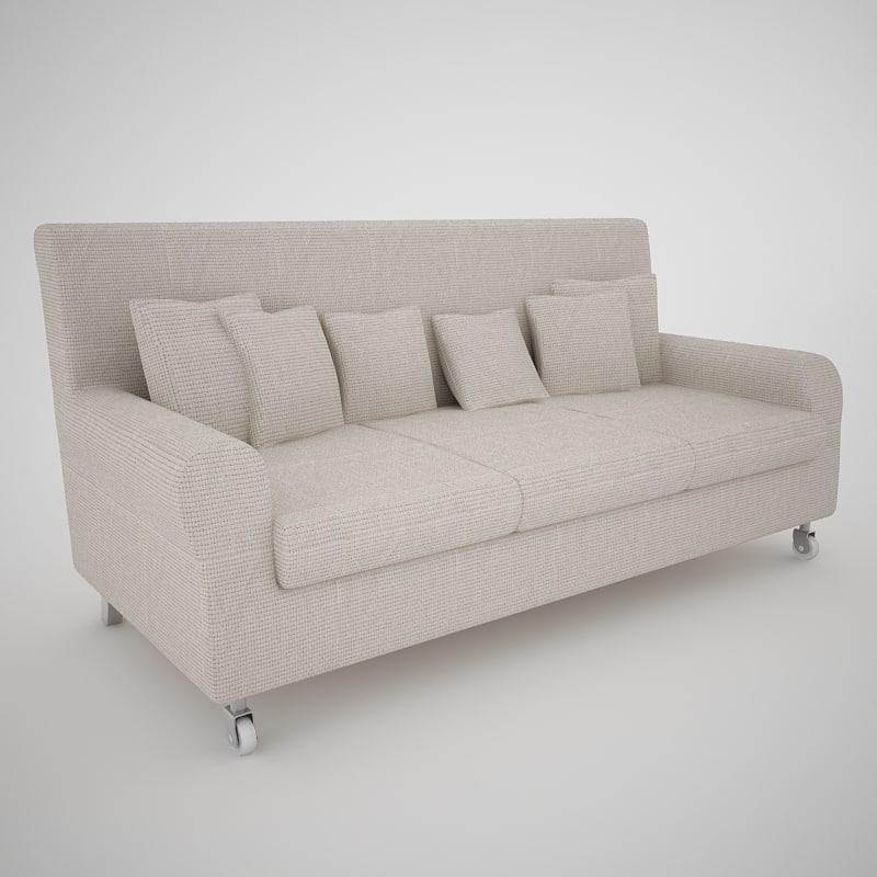 sofa v-ray 3d max