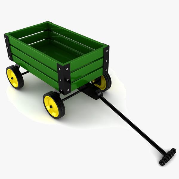 toy wagon 3d model
