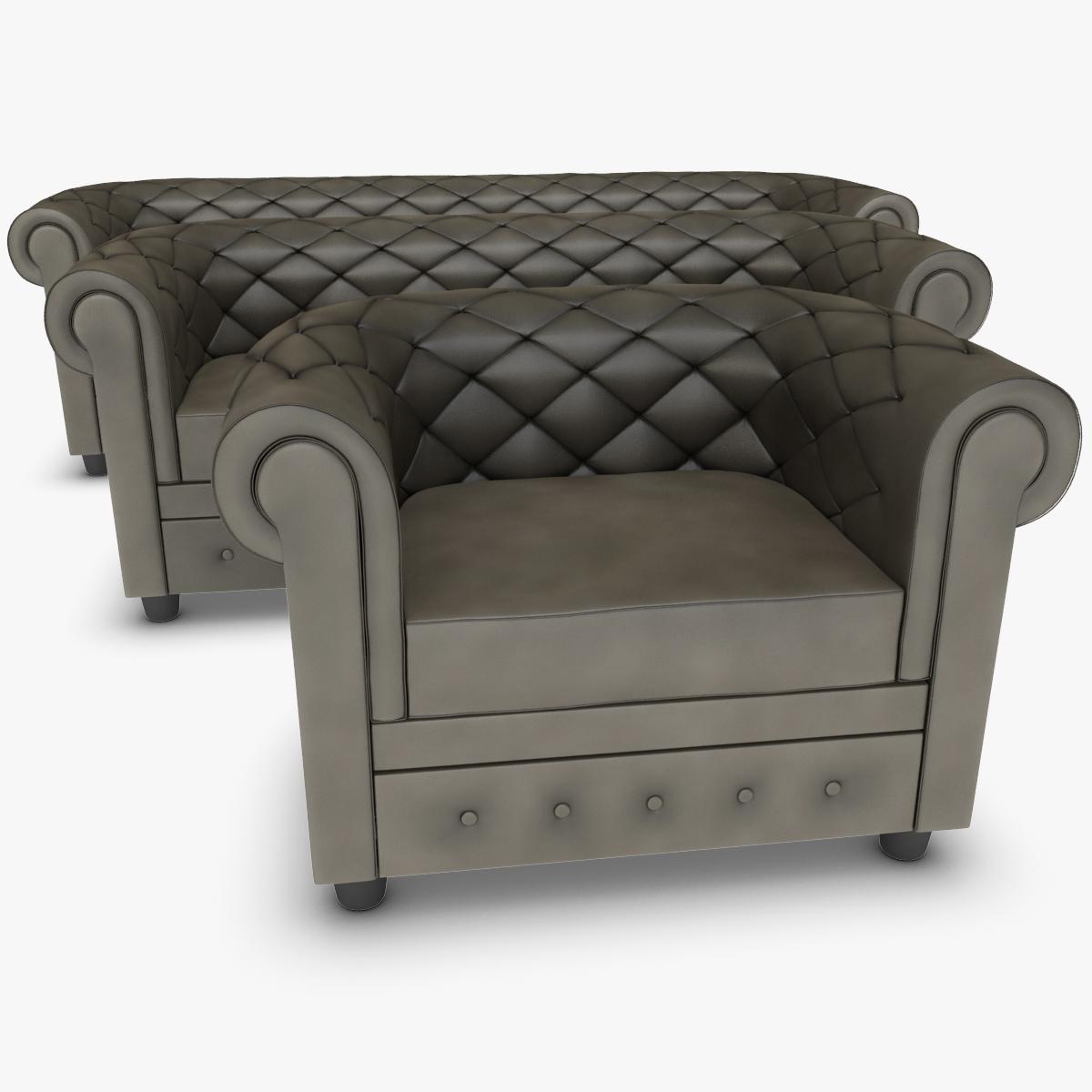 Sofa Chester Set Grey Model