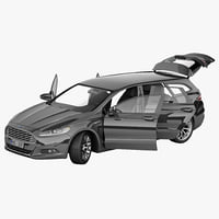 Ford Mondeo 2013 Wagon Rigged 2